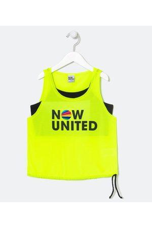 Now United Criança Básica - Blusa Infantil Cropped com Top Estampa - Tam 9 a 14 anos       11-12