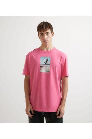 Ripping Homem Camisolas de Manga Curta - Camiseta Manga Curta em Algodão Estampa Fotoprint Skatista       M