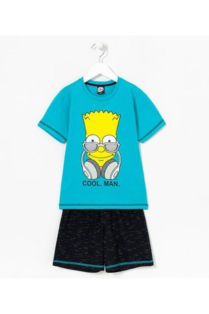 The Simpsons Homem Pijamas - Pijama Infantil Curto com Estampa Bart Simpson Cool Man | | | 13-14