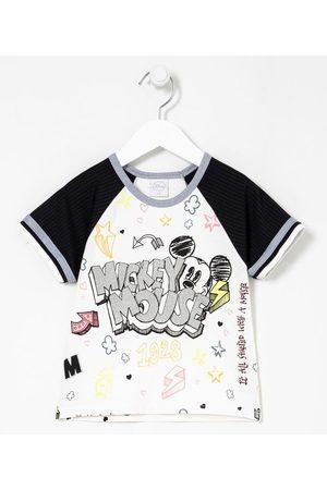 Mickey Mouse Blusa Infantil Cropped Estampa do Mickey com Doodles - Tam 5 a 14 anos | | | 13-14