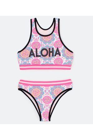 Cubus Criança Bikini - Biquini Infantil Esportivo Estampa de Mandala - Tam 5 a 16 anos     Multicores   7-8