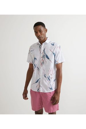 Marfinno Homem Camisa Manga Curta - Camisa Manga Curta com Estampa Floral | | | GG
