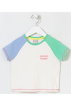 "Fuzarka Criança Blusa - Blusa Infantil Manga Raglan Coloridas e Lettering ""Choose Happy"" - Tam 5 a 14 Anos       11-12"