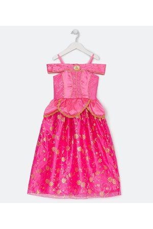 Princesas Criança Vestidos - Vestido Infantil Fantasia Princesa Aurora - Tam 1 a 14 anos | | | 02