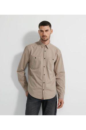 Marfinno Camisa Manga Longa em Sarja com Bolsos | | | GG