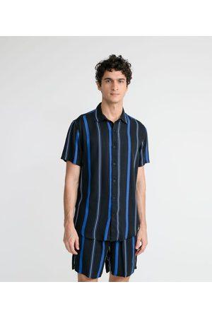 Request Homem Camisa Manga Curta - Camisa Manga Curta Listrada em Viscose | | | G