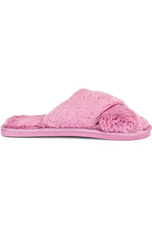 Flora Nikrooz Victoria Teddy Criss Cross Slippers in . - size L (also in M, S)