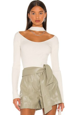 JONATHAN SIMKHAI Mulher Básica - Leah Twisted Cable Halter Top in Ivory. - size L (also in M, S, XS)