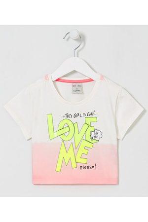 Fuzarka Criança Blusa - Blusa Infantil Dip Dye com Lettering Love Me - Tam 5 a 14 anos       5-6