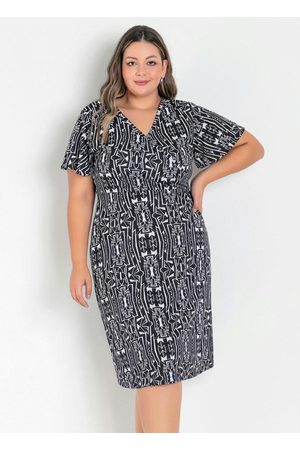 Marguerite Vestido Étnico Transpassado Plus Size