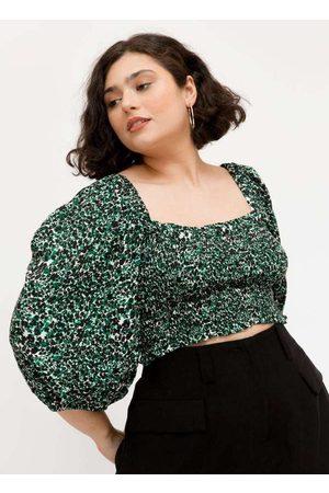 Tal Qual Blusa Cropped Almaria Plus Size 3/4 com