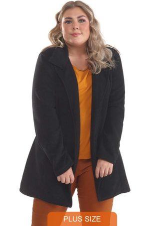 Lepoque Mulher Trench Coat - Sobretudo Plus Size Malha Boucle