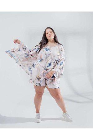 Miss Taylor Mulher Quimono - Kimono Almaria Plus Size Curto Estampa