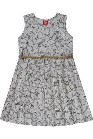 Bee Loop Menina Vestido Estampado - Vestido Infantil com Cinto