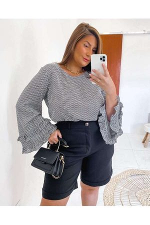 Miss Taylor Blusa Almaria Plus Size Estampada Ml B