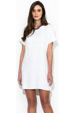 Colcci Vestido Curto de Crepe Off White