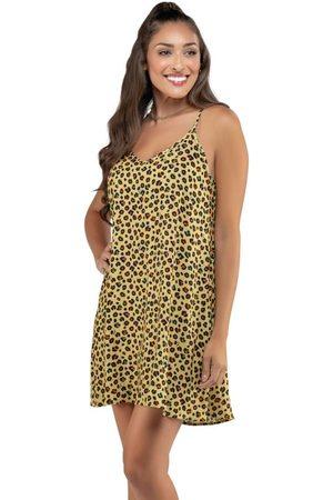 Angel Vestido Curto Amplo Leopard Color