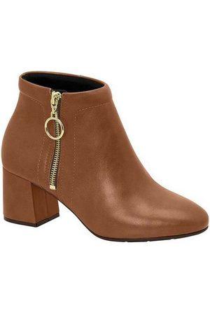 MODARE Ankle Boots Feminina Conforto Zíper Argola