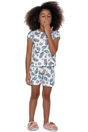 Fakini Kids Menina Pijamas - Conjunto Pijama Curto Estampado Sereia
