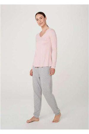 Hering Pijama Longo Feminino Decote V