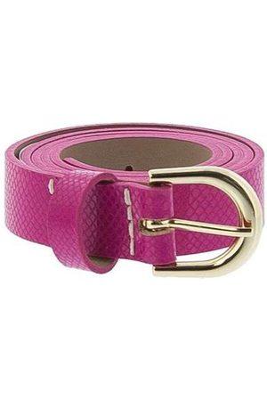 Stz Cinto Feminino Textura Snake Pink