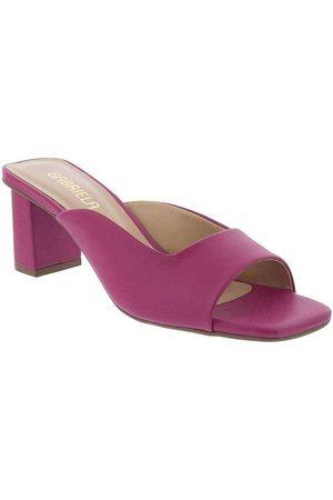 Gabriela Tamanco Salto Grosso Decote Pink Pink