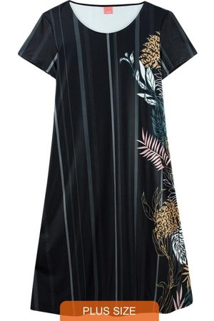 Malwee Plus Vestido Tropical em Liganete