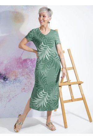 Cativa Mulher Vestido Estampado - Vestido Midi Estampado com Decote V