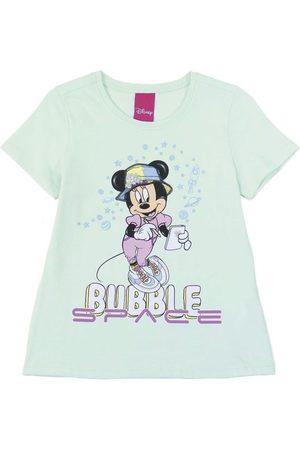 Disney Menina Blusas de Manga Curta - Blusa Feminina Infantil Estampada Estampada