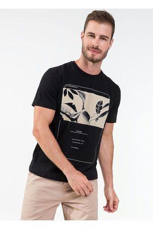 Rovitex Camisa Masculina Estampa de Folhas