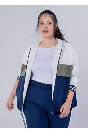 Miss Taylor Mulher Jaquetas - Jaqueta Tricolor Almaria Plus Size com