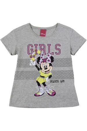 Disney Menina Blusas de Manga Curta - Blusa em Meia Malha com Glitter