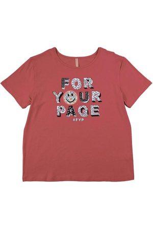 Cativa Teens T-Shirt Estampada com Bordado
