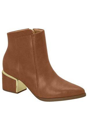 VIZZANO Ankle Boots Feminina Básica Caramelo