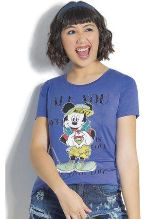 Disney T-Shirt Estampada com Aplicação