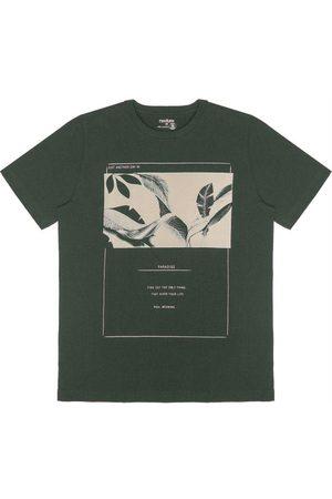 Rovitex Homem Camisa Manga Curta - Camisa Masculina Estampa de Folhas