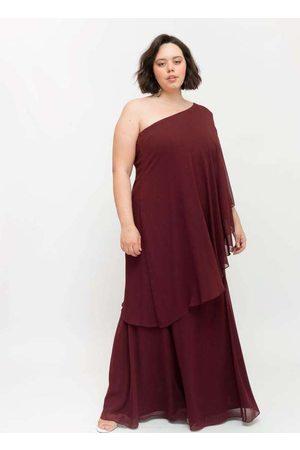 Pianeta Vestido Longo Almaria Plus Size um Ombro S