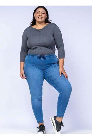 Shyros Mulher Calça Jogger - Calça Jogger Almaria Plus Size Jeans