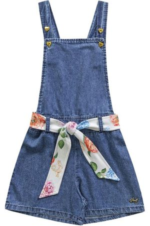 Playground Jardineira Jeans com Faixa