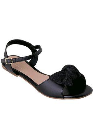 Perfecta Mulher Sandálias - Rasteirinha Preta com Amarração