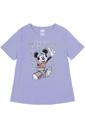 Disney Blusa Estampada com Bordado Roxa