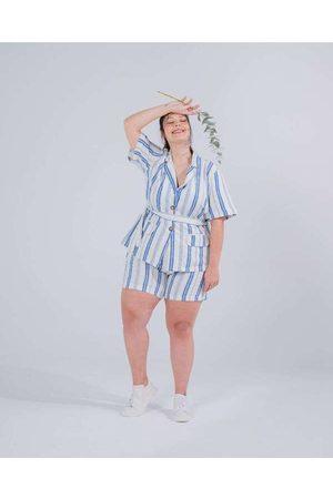Miss Taylor Casaqueto Almaria Plus Size Listrado B