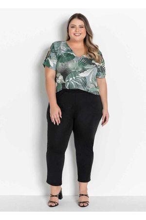 Marguerite Conjunto Folhagem com Blusa e Calça Plus Size
