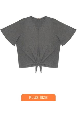 Secret Glam Blusa Feminina Plus Size Lurex