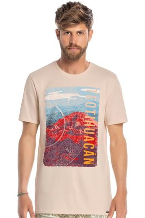 ENFIM Homem Camisolas de Manga Curta - Camiseta Slim Teotihuacán
