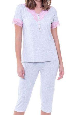 Podiun Pijama Feminino Curto 225042 Mescla