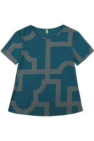 Cativa Blusa com Estampa Geométrica