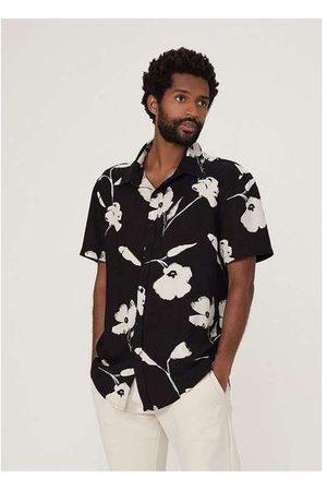 Hering Camisa Masculina Estampada em Tecido de Viscose Pr