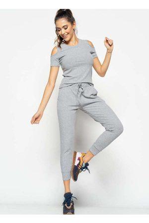 Salvatore Fashion Conjunto Comfy com Blusa Ombro Vazado e Jogger Ca