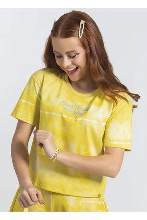 Cativa Teens T-Shirt Estampada com Glitter